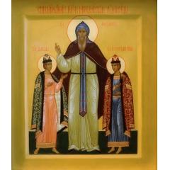 Икона Феодор, Василий, Давид, Константин Ярославские, благоверные князья и Андрей, благоверный князь.